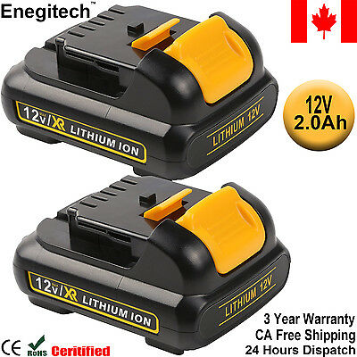 2 Pack Replacement Battery for Dewalt DCB127 2.0Ah 12V Max Lithium Cordless Tool