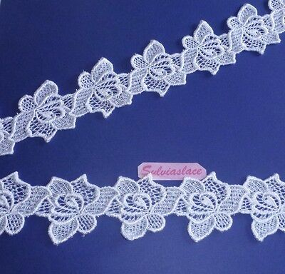 1 m of Beautiful  White Guipure Lace  Can cut into 18 Motifs   65 mm Wide wt 20g