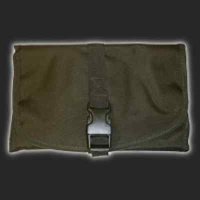 Mil-Tec British Military Foldable Toiletry Bag with Hanging Hook & Mirror Olive
