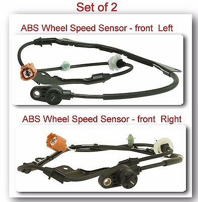 2 ABS Wheel Speed Sensor Front Left & Right For Acura CL TL Honda Accord 98-2002