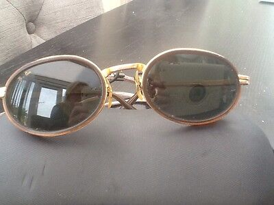 Vintage B&L Ray Ban W2814 Brown And Gold Sunglasses Sidecup Diners