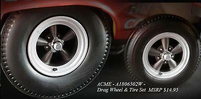 Acme Drag Wheels And Tire Set 1:18 Presale A1806502W