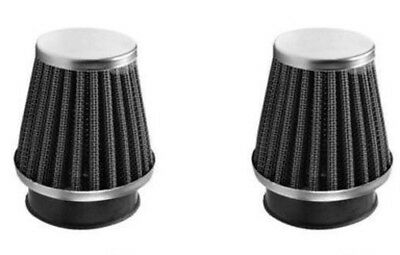 Two 2 x New Power Air Filter 54-55mm Like K&N