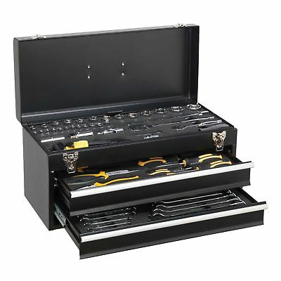 Sigen by Sealey Portable Tool Chest 2 Drawer with 90pc Tool Kit Box S01055 Gift