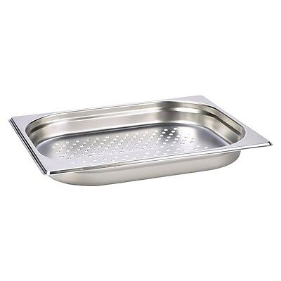 Perforated Stainless Steel Gastronorm Pan 1/2 - 40mm Deep |  | Catering