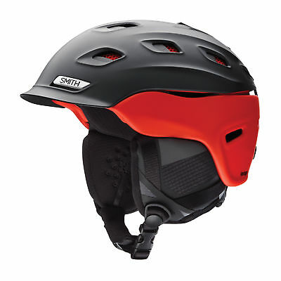Smith Men's Vantage Snow Ski Helmet Matte Black Fire