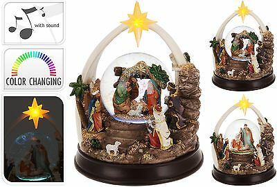 Stunning Extra Large Musical Christmas Snow Globe Nativity Snowglobe Snowstorm
