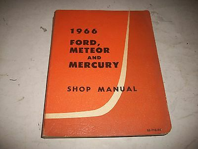 1966 Ford-Meteor-Mercury Shop Service Manual Canadian Very Clean Cmystore4More