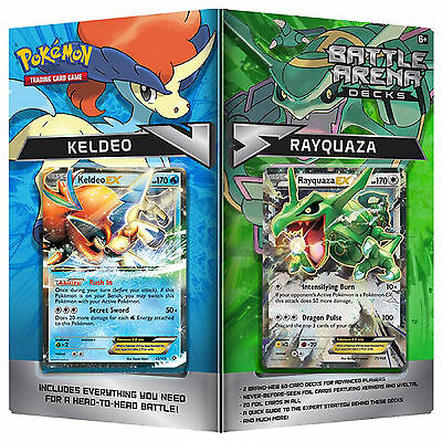 Pokemon XY Battle Arena Decks 2016 Rayquaza Vs Keldeo - 2 Decks of 60 Cards - EX