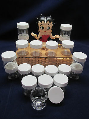 30 SPICE JARS CLEAR CONTAINERS 1oz 30ml FREE SHIPPING