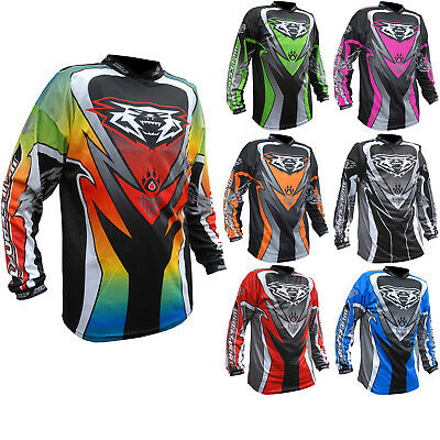 Wulf Attack Cub Motocross Jersey MX Enduro Off Road Adventure Dirt Breathable