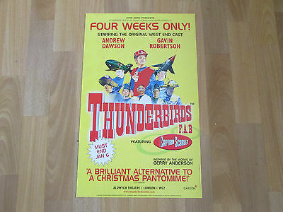 THUNDERBIRDS inc Captain Scarlet 4 Weeks Only PLAYHOUSE Theatre Original Poster
