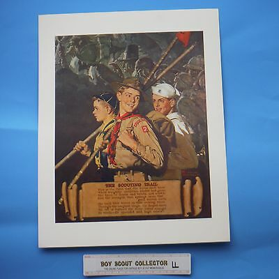 """Boy Scout Norman Rockwell Print The Scouting Trail 11""""x14"""""""