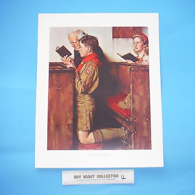 """Boy Scout Norman Rockwell Print A Scout Is Reverent 11""""x14"""""""