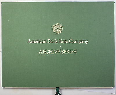 1988 American Bank Note Company Archive Series Volume Two
