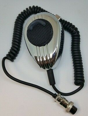 Workman Ss56 4 Pin Cb Radio Microphone Chrome Noise Cancelling