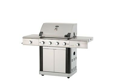 Professional 4 Burner Gas Hooded Barbecue St Lucia Stainless Steel Gas Grill BBQ
