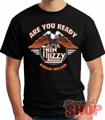 """T-Shirt """"thin Lizzy - Are You Ready""""model A Choose Boy-Girl-Child"""