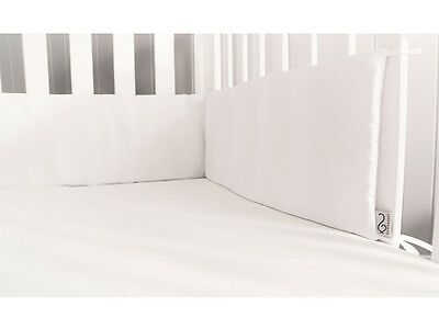 GOOSEBERRY White Baby Cot Crib Bumper Cotton Padded 210 x 30 cm