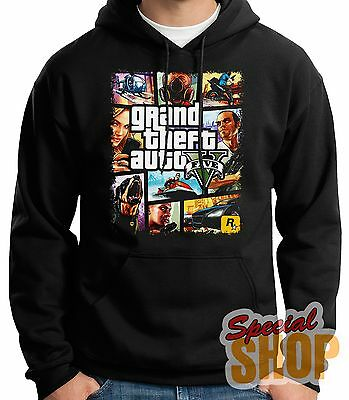 "Sweatshirt With Hood""grand Theft Auto V Game Playstation ""hoodie Shipping 24/72"