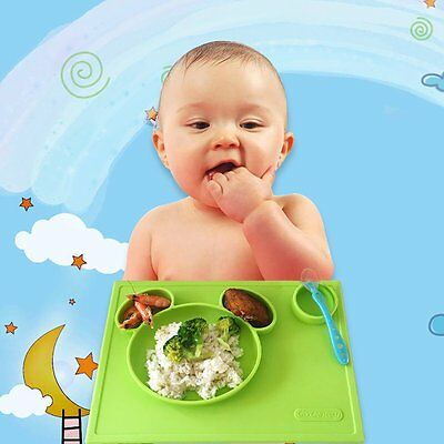 Baby Safe Non-toxic Food Grade Silicone Placemat Tray Feeding Mat Plate Dish