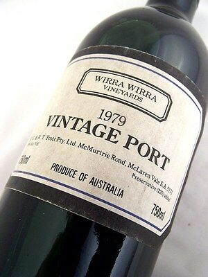 1979 WIRRA WIRRA Vineyards Vintage Port Isle of Wine
