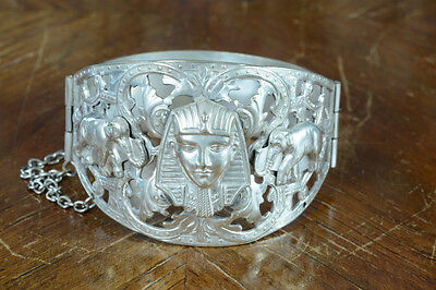 Gorgeous Antique French Egyptian Revival Bracelet VINTAGE JEWELRY PHARAON RARE