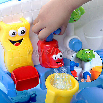 Bath Toys Water Faucet Taps Spout Spray Shower Water Play For Kid Baby Learning
