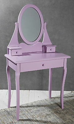 Dressing Table - with Mirror - Purple - Dresser Console Table Hallway - Retro