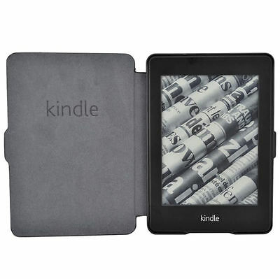 Ultra Slim Leather Case Cover for Amazon Kindle Paperwhite 3,2,1 Lightweight