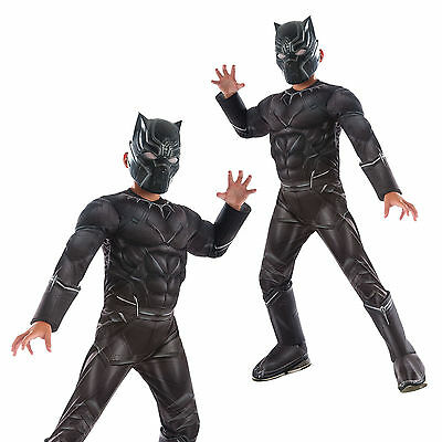 Rubies Marvel Deluxe Black Panther Childs Avengers Jumpsuit Fancy Dress Costume
