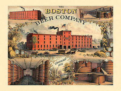 POSTER BEST WISHES W J LEMP BREWING SAINT LOUIS USA BEER VINTAGE REPRO FREE S//H