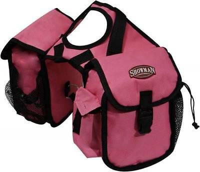 Showman PINK Cordura Nylon Western Saddle Insulated Horn Bags! New Horse Tack!