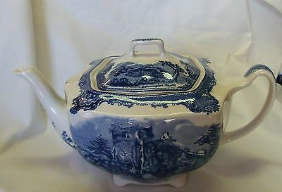 NEW Johnson Brothers Old Britain Castles Blue Teapot  No Box