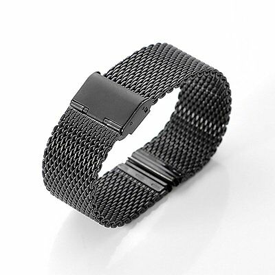 WOSUK Width 22mm Replacement Band Metal Stainless Steel Strap Universal for Pebb