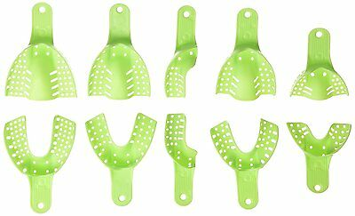 Impressive Smile Dental Impression Trays Autoclavable Central 10pcs-Light Green