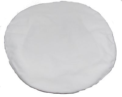 Royal Navy Cap Cover,White Cotton,RN,Headwear,Will fit 10.5 inch wide Top R1741