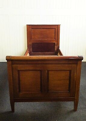 Antique mahogany single sleigh bed