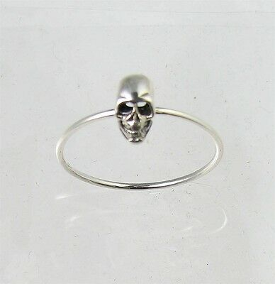 Petite Band Fun Sterling Silver Scary SKULL Halloween Ring Size 4-9