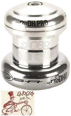 """Fsa The Pig Dh Pro Threadless Cupped Silver 1-1/8"""" Bmx Bicycle Headset"""