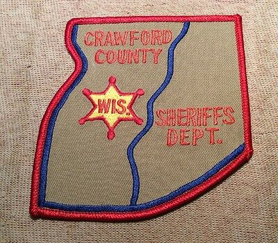 WS Crawford County Wisconsin Sheriff Patch