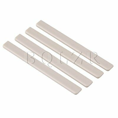 7.5x0.3x0.7cm Beige Plastic Saddles for Ukulele Replacement Pack of 4