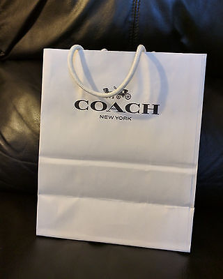 Coach Shopping Bag White 100% Authentic Paper Gift Bag Small 10