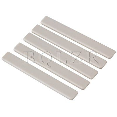 Ukulele Guitar 6.2x0.3x0.8cm Beige Plastic Saddles Replacement Pack of 5