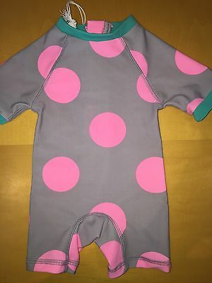 Country Road Baby Girls Pink Spot Onesie Size 000 BNWT RRP $44.95 UPF 50+
