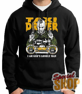 "SWEATSHIRT WITH HOOD""TAXI DRIVER-I AM GOD'S LONELY MAN""HOODIE SHIPPING 24/72 h"