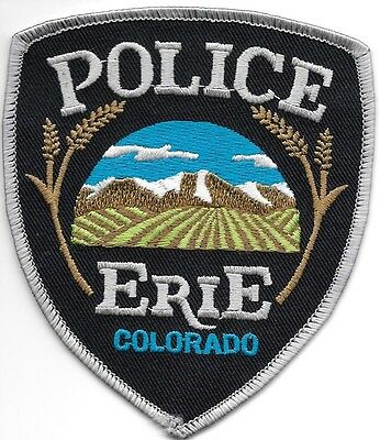 """*NEW*  Erie, Colorado (3.75"""" x 4.25"""") shoulder police patch (fire)"""