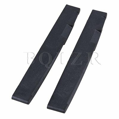 7.2x0.3x1cm Black Saddles Replacement for Folk Acoustic Guitar Pack of 2