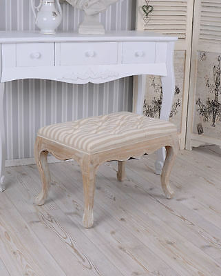 VINTAGE Stool STRIPED stool FOR DRESSING TABLE stool Bench