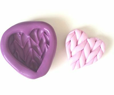 Knitted Heart 25 mm Silicone Mould Sugarcraft Chocolate Fondant Icing Tool